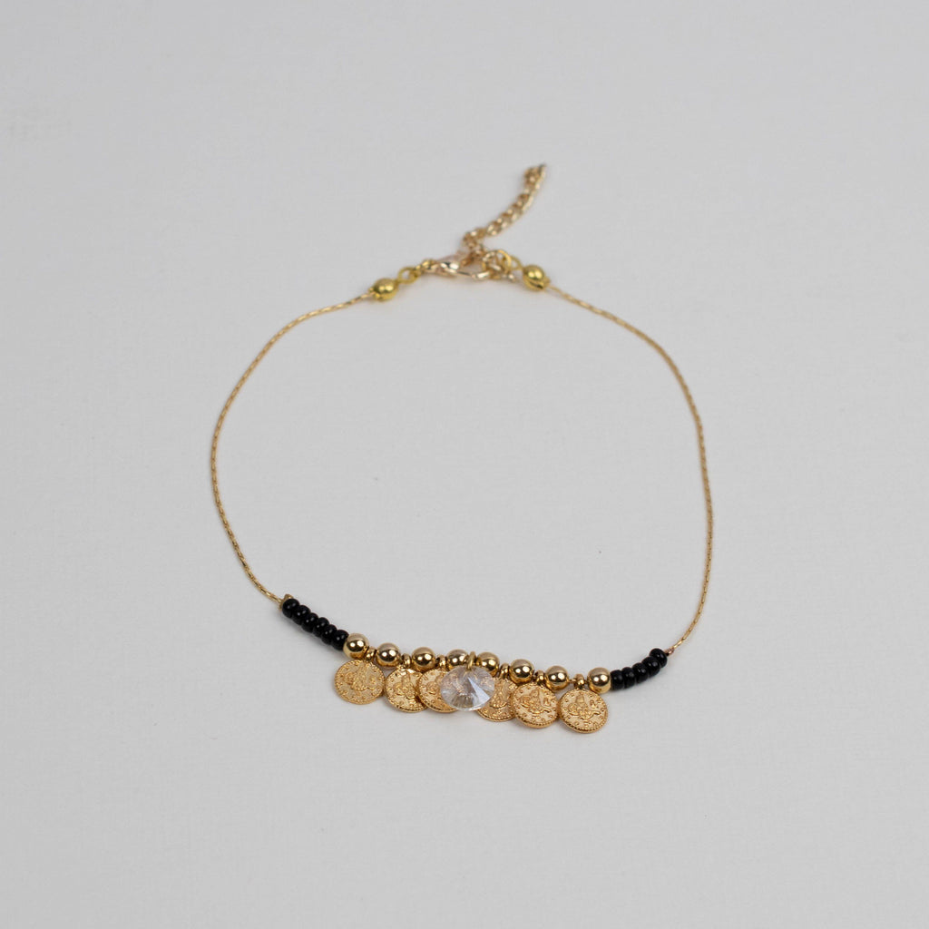 Bead Coin Anklet