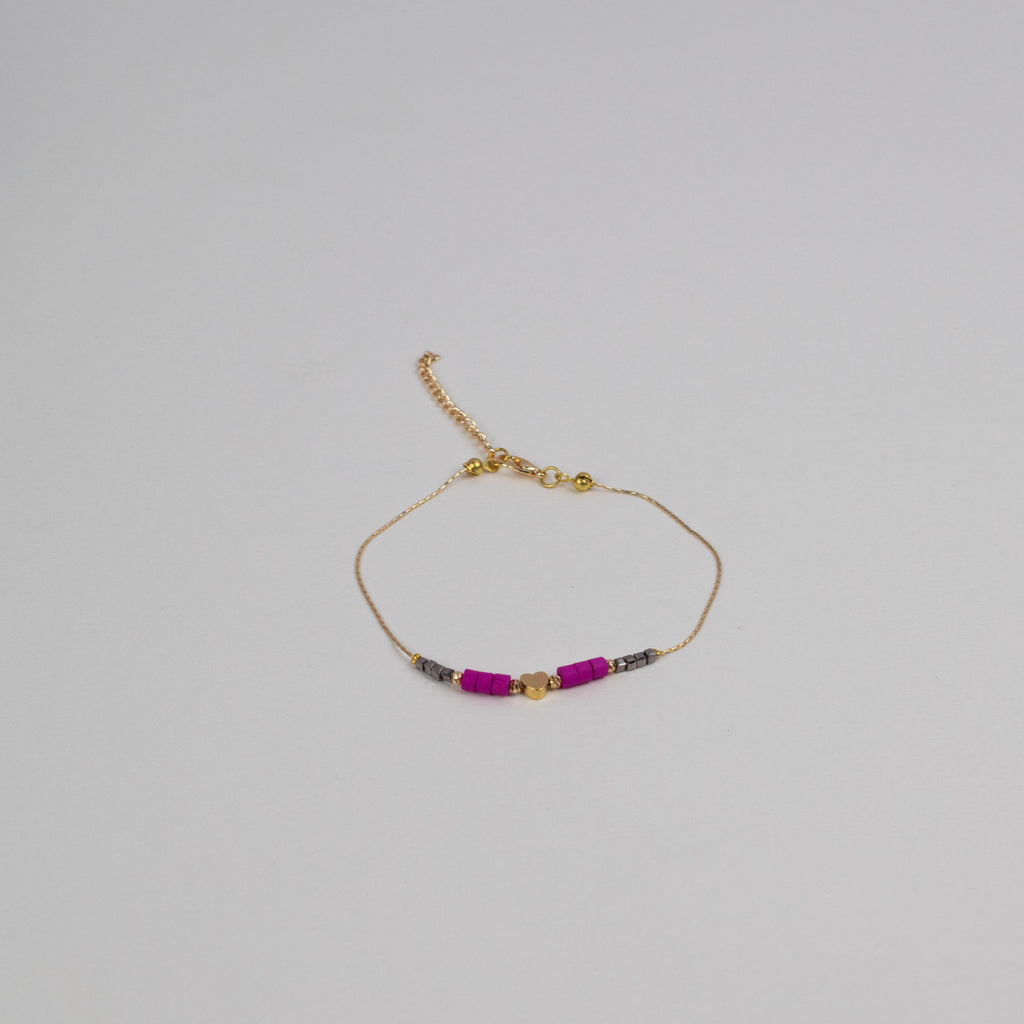 Pink Beads Anklet