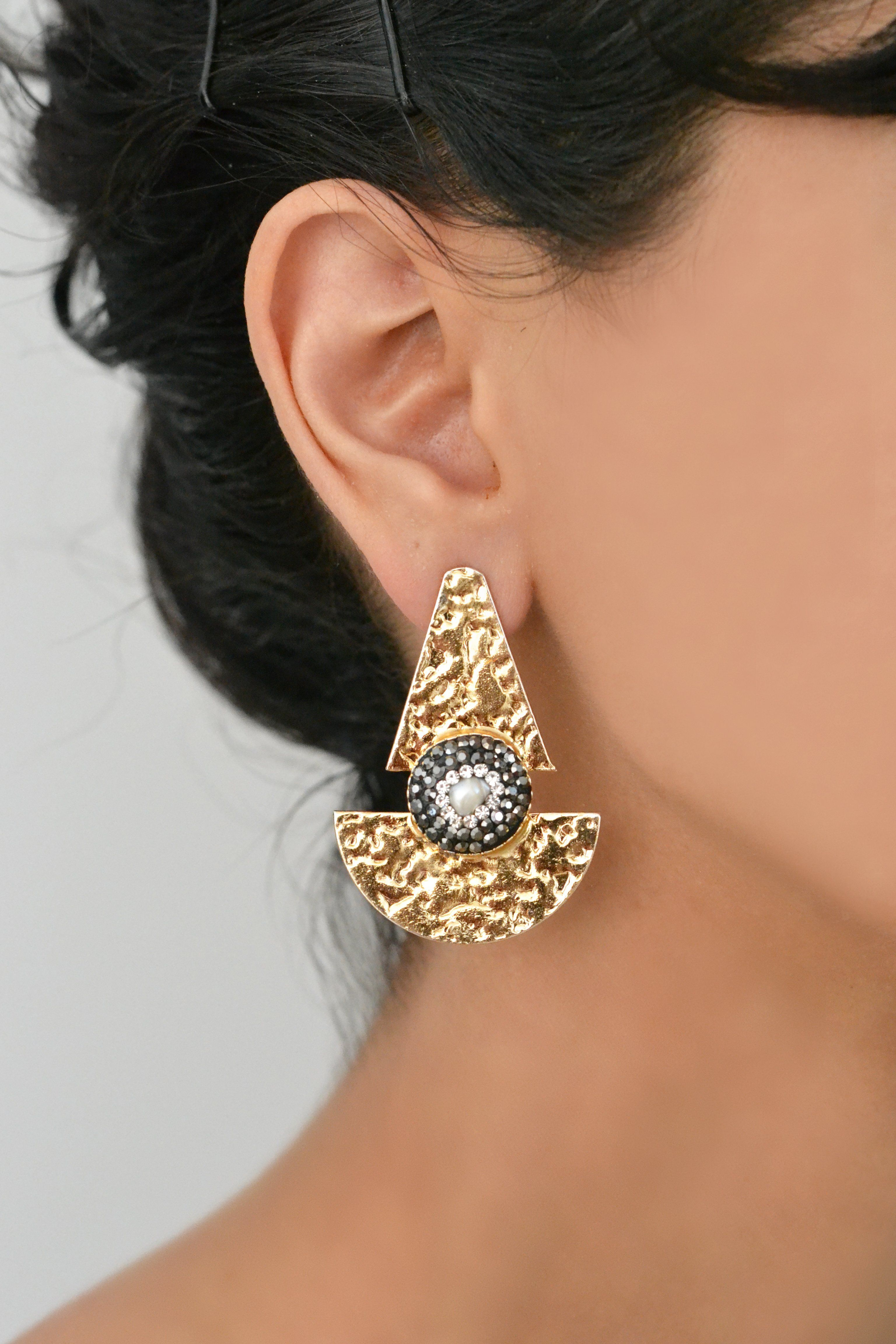 Shield Turkuaz Earrings