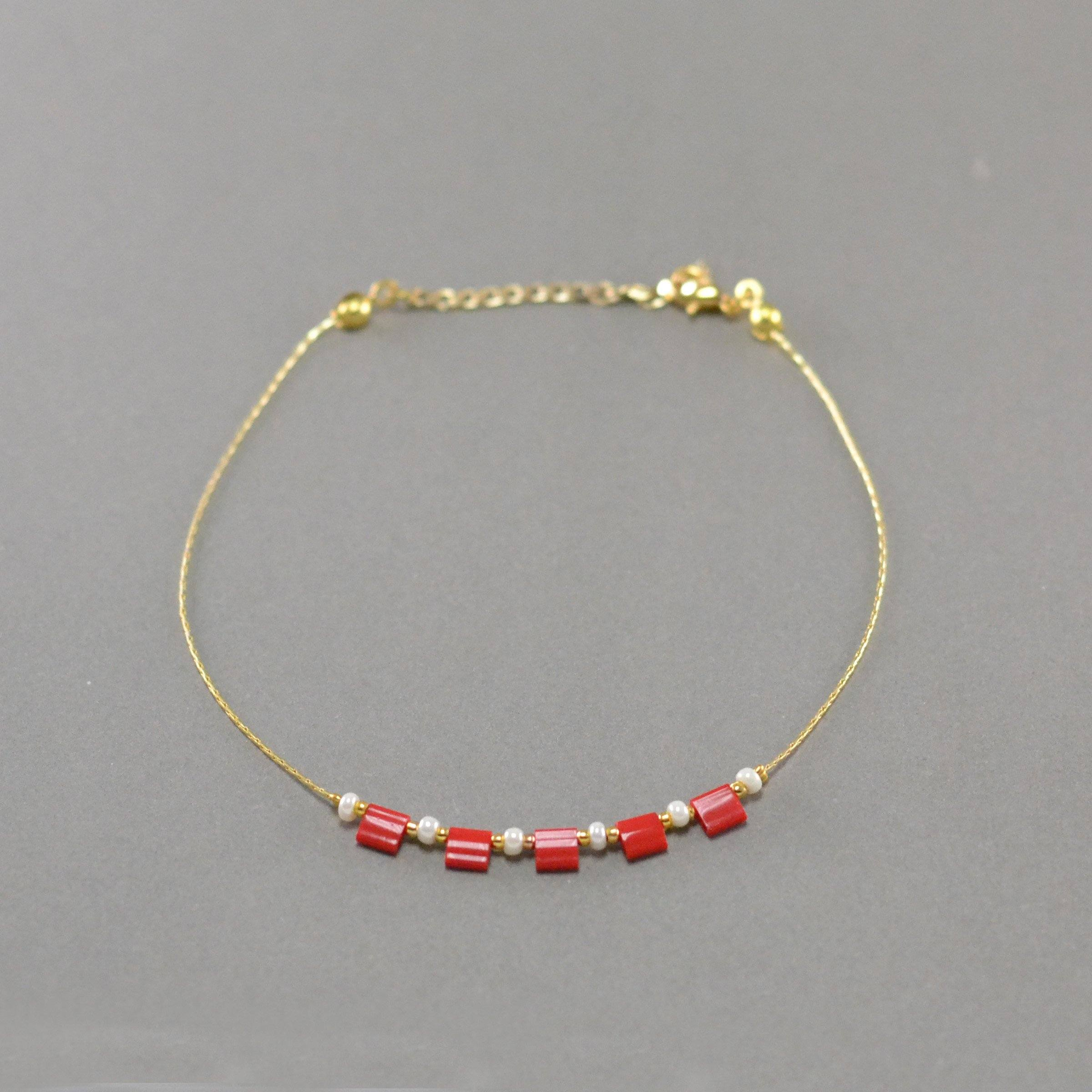 Red Beads Anklet