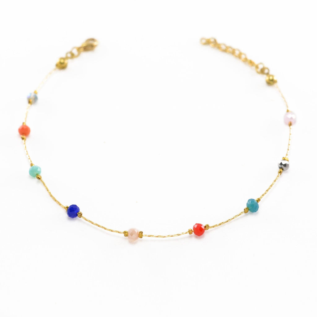 Multi-Colored Beads Anklet