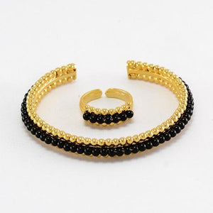 Black Beads Solid Set