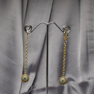 Ball N Chain Earrings
