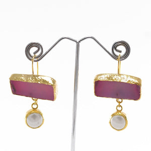 Grand Natural Stone Earrings