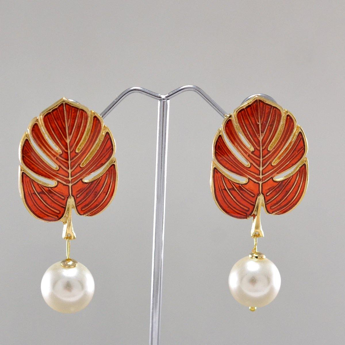 Autumn Pearl Earrings