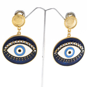 Shimmery Evil Eye Earrings