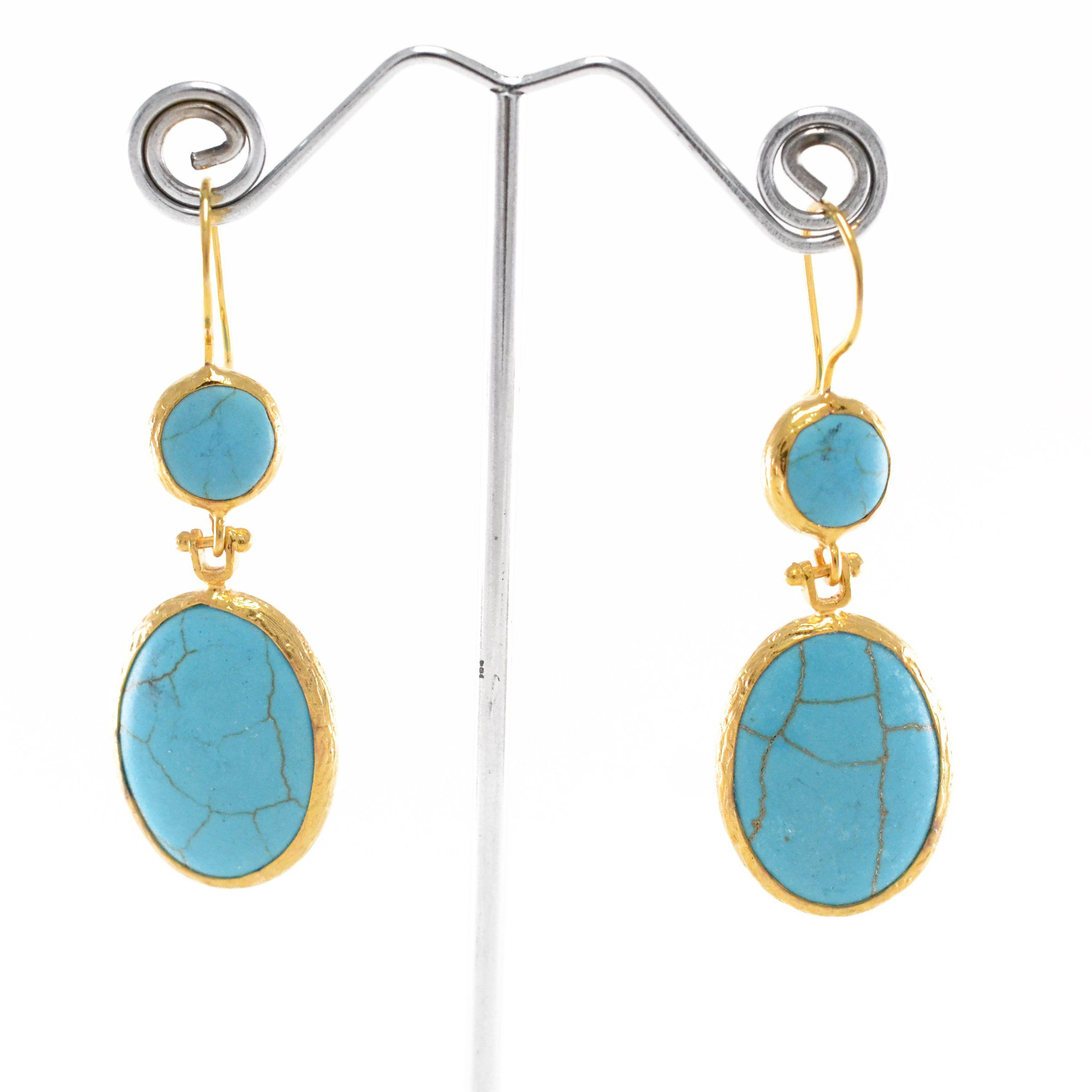 2 Turquoise Stone Earrings