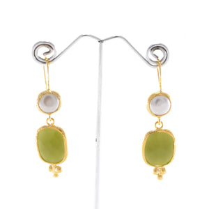 Pearl & Natural Stone Earrings