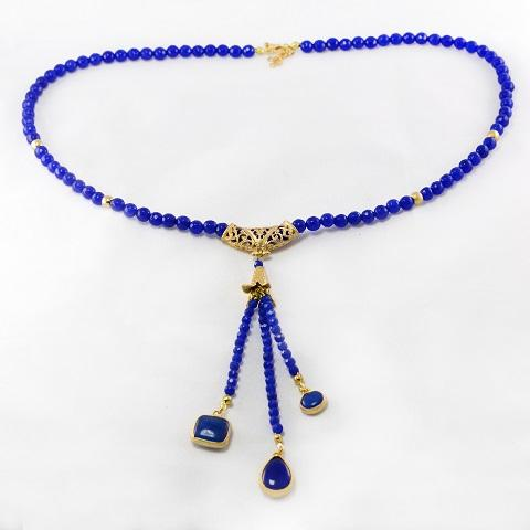 Royal Blue Bead Necklace
