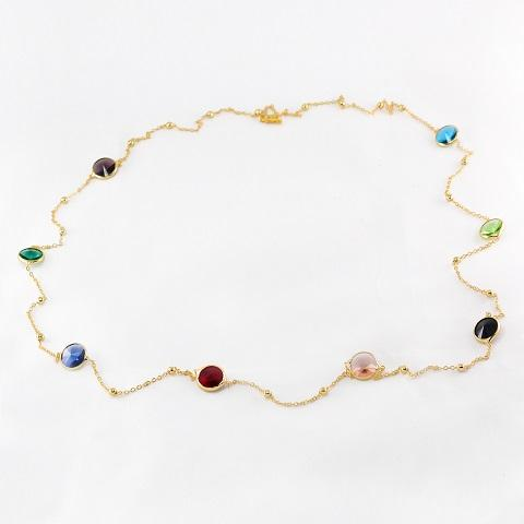 Multi Colour Crystal Necklace