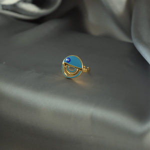 Evil Eye Round Chic Ring
