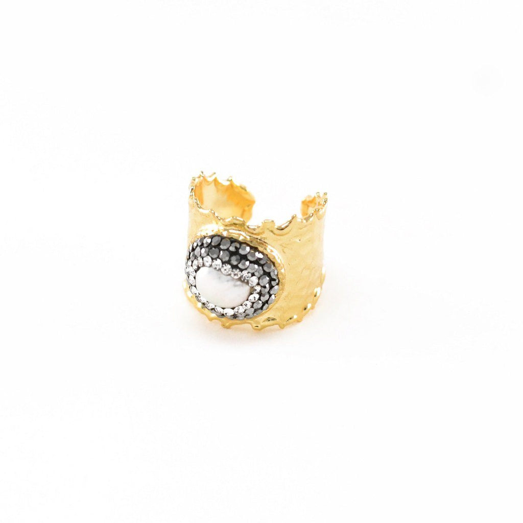 Funky Stone Band Ring