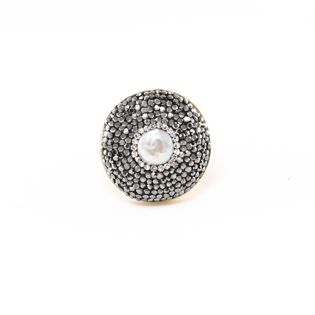 Marcasite Pearl Ring