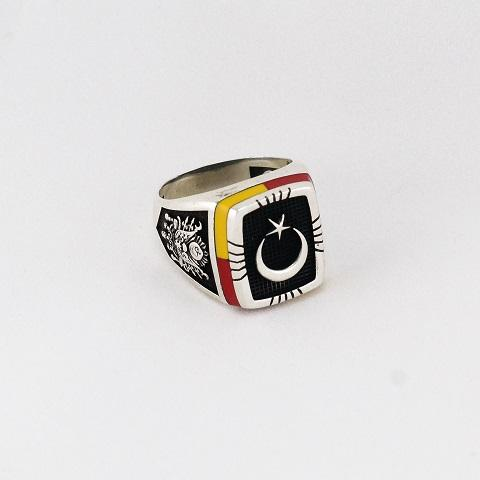 Star & Crescent Colorful Ring