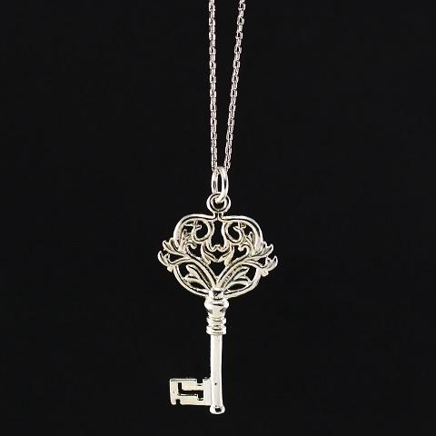 925 Silver Key Necklace