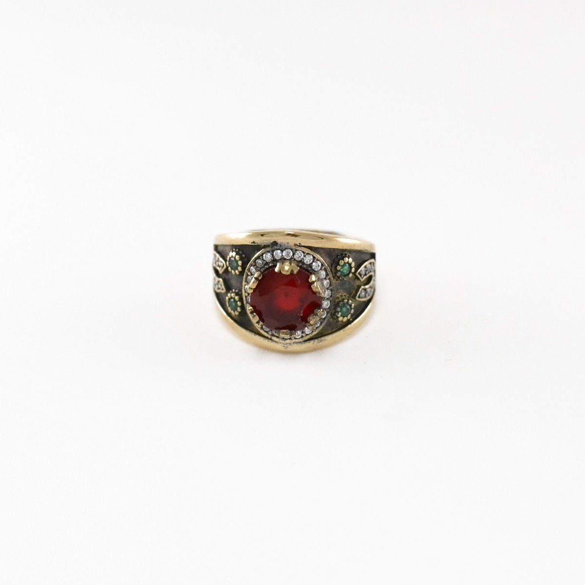 Blood Moon Silver Ring