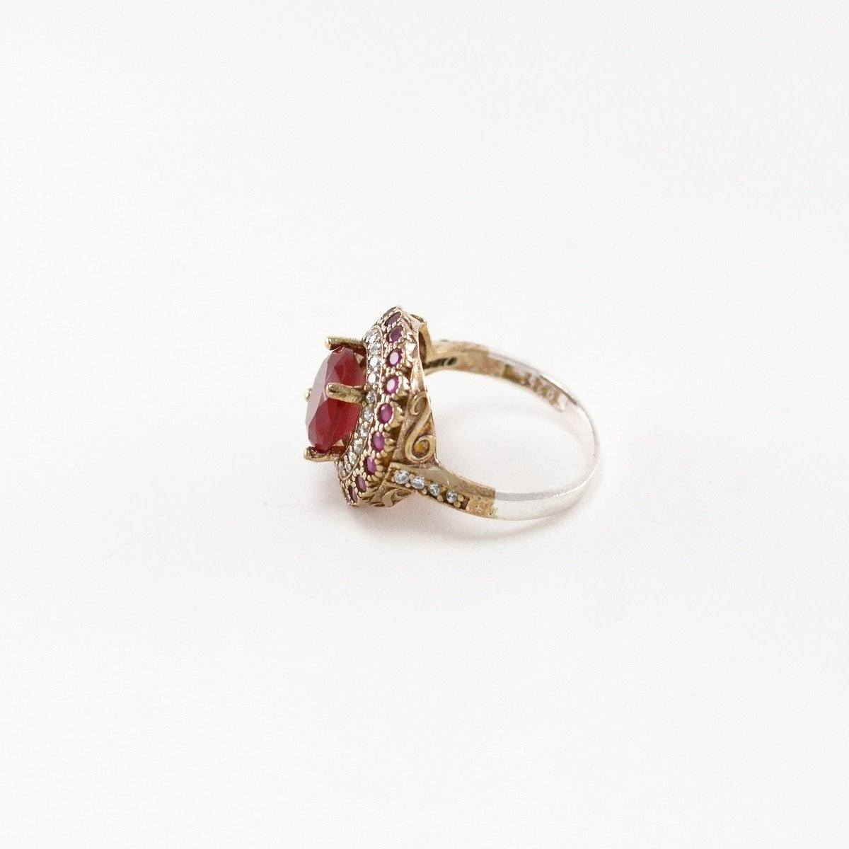 Cherry Silver Ring