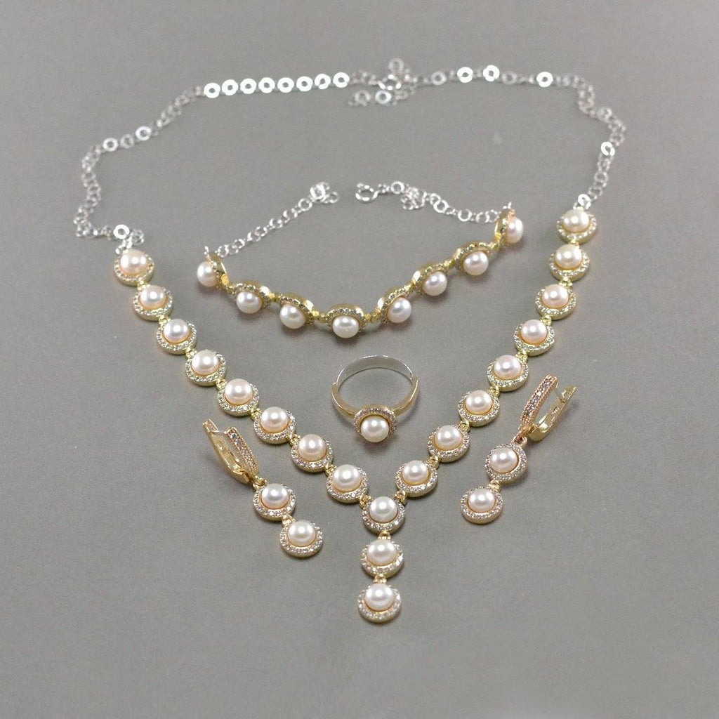 Grand Pearl Silver Set