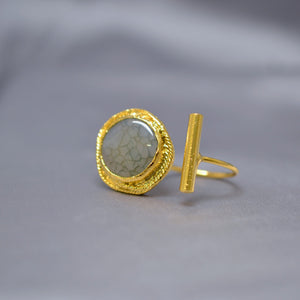 Contemporary Stone Ring
