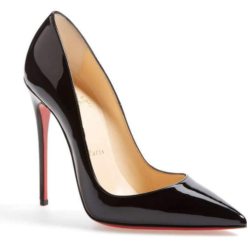 Christian Louboutin Incredibly Hot Black Pointed Toe Pumps- Plus Size Heels | Size 10 Heels