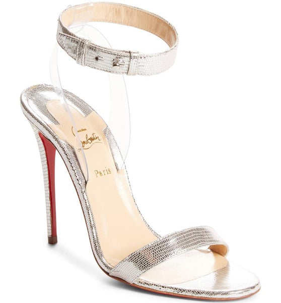 81cd2619bb3 Jonatina - Silver Louboutin Sandal Heels in Size 11 and 12 – Plus ...