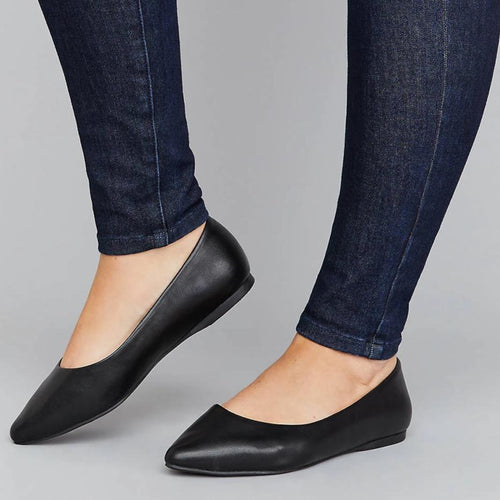 Smooth Pointed Toe Flat
