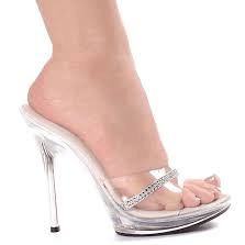 Ellie Shoes: Mule Sandals Rhinestones High Heels - Plus Size Heels | Size 11 Heels