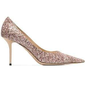 Love: Glitter High Stiletto Pointed Toe Heels - Plus Size Heels | Size 11 Heels