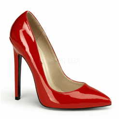 Red High Heel Pumps with Pointed Toes - Plus Size Heels | Size 10 Heels