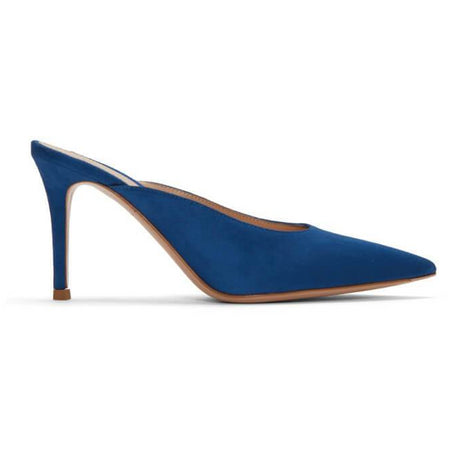 Erin: Pointed Toe Slingback Ankle Strap Pumps