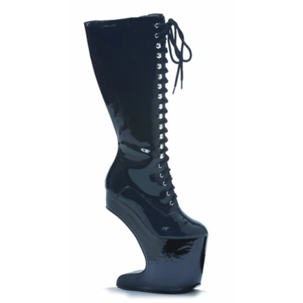 "5 1/2 inch Knee High Front Lace Boots ""EL - BP 579 - SARAH"" - Plus Size Heels 