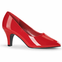 Divine: Red Low Heel Pumps | Plus Size Heels