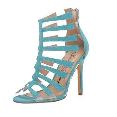 Penny Loves Kenny: Doremi Blue Sandal Pumps - Plus Size Heels | Size 16 Heels