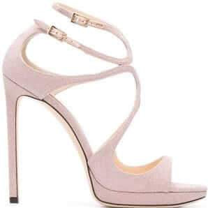 Lance: Multiple Straps High Stiletto Heels - Plus Size Heels | Size 14 Heels