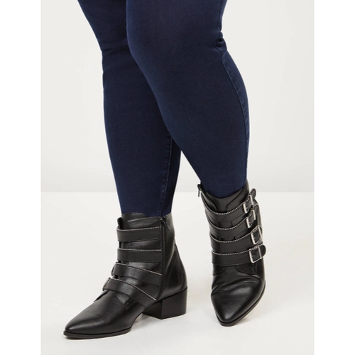 Ankle Boot with Studded Straps - Plus Size Heels | Size 12 Heels