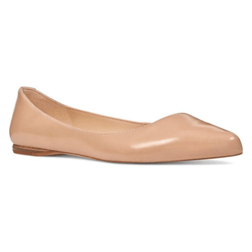 Biscuit Brown Almond Toe Flats in Size 10