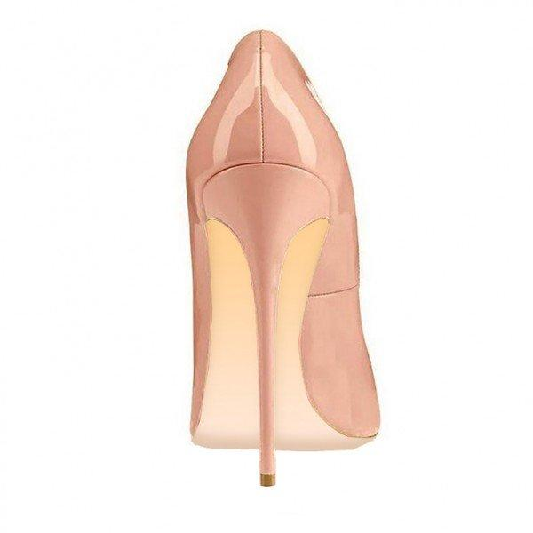 Blush Leather Heels - Plus Size Heels | Size 11 Heels | Size 12 Heels