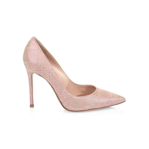 Gianvito Embellished Suede Pumps - Plus Size Heels | Size 12 Heels