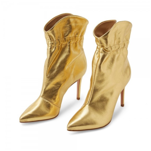 Gold Stiletto Ankle Boots - Plus Size Heels | Size 13 Heels