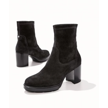 Load image into Gallery viewer, Idalia Stretch-Suede Booties - Plus Size Heels | Size 10 Heels