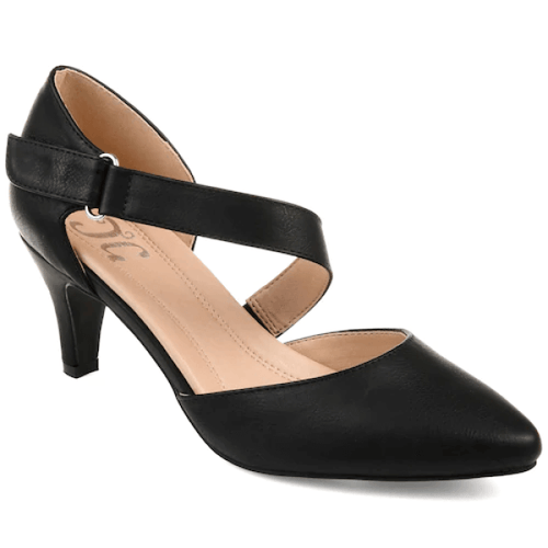 Kitten Heel D'Orsay Pumps Black Suede Size 11