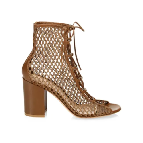 Lace-Up Mesh Booties - Plus Size Heels | Size 12 Heels