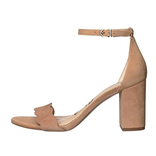 Light Brown Ankle Strap Sandal Heels Left Side