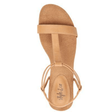 Load image into Gallery viewer, Mulan Biscuit Brown Wedge Sandals Top View