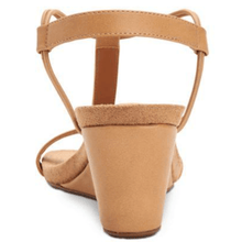 Load image into Gallery viewer, Mulan Biscuit Brown Wedge Sandals Back View