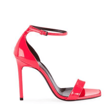 Load image into Gallery viewer, Neon Pink Leather Sandals Right Side View