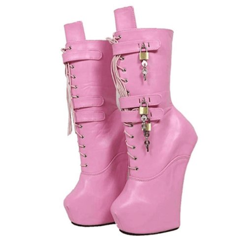 Heelless Lockable Wedge Boots