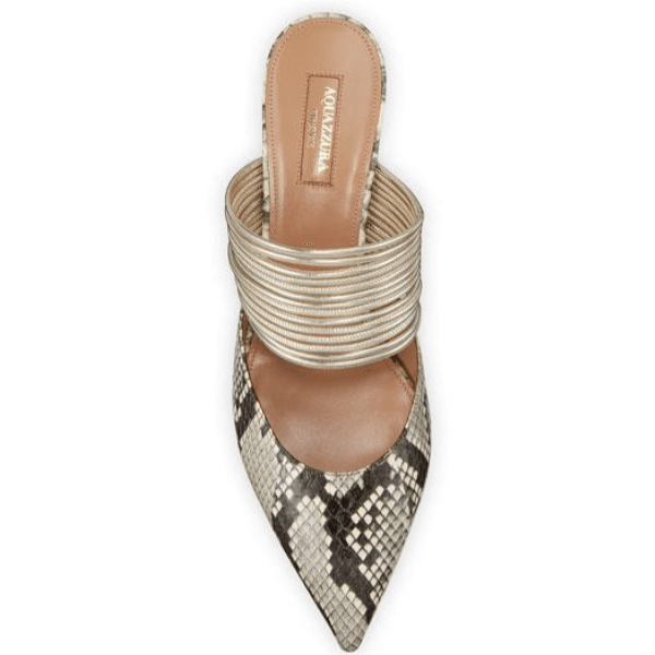 Python-Print Pointed Toe Mules Size 11, 12