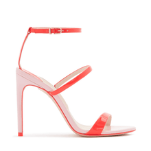 Load image into Gallery viewer, Rosalind Orange and Pink Sandals in Size 11 Side View