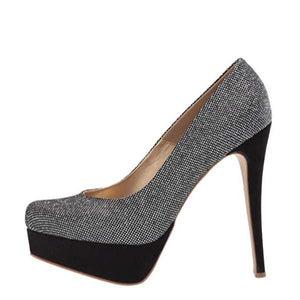Trixie - Silver Almond Toe Heels Right Side Heels